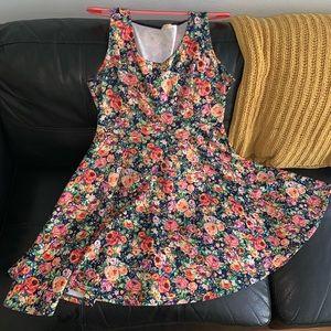 Bright, floral skater dress